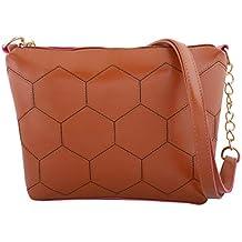 FELICITA Women's Designer Branded Small Sling Bag (Brown)