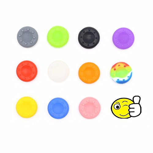 Veena BLUE : 4PCS Rubber Silicone Cap Thumbstick Thumb Stick X Cover Case Skin Joystick Grips For PS4 PS3 XBOX 360 Wireless Controller
