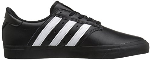 Adidas Seeley Premiere Synthétique Baskets Noir/Blanc/Cuir noir