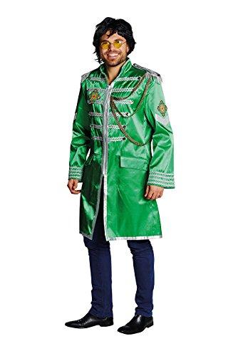 Sergeant Pepper Jacke grün Herren Kostüm Karneval (Sergeant Pepper Kostüm)