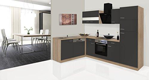 respekta Economy ángulo de l Forma de Cocina Roble Gris 280x 172cm...