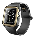 Clayco Apple Watch 3 Armband 42mm [Hera] Slim Apple Watch 3 Case Stoßfest iWatch Schutzhülle Kratzfest Hülle für Apple Watch 42mm Serie 3 / Serie 2 / Serie 1, Gold
