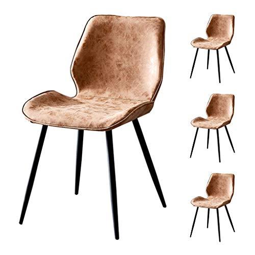 OUG Brown Vintage Industrial Style Metall Küche Esszimmer Side Chair, Moderne minimalistische weiche Sofa Rückenlehne, geeignet für Wohnzimmer Esszimmer (optionales Set) - Großhandel Esszimmer-sets