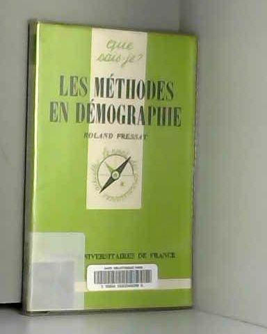 Methodes en Démographie (les)