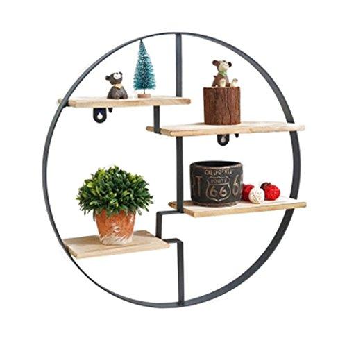 Büroschränke & -ablagen Skandinavische Schwarze Eisen Runde Vier Regale Wand Lagerregale 50 * 50 cm Rollcontainer