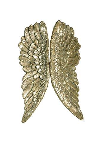 Kobolo Deko-Flügel Engelsflügel in der Farbe Gold als Wanddekoration zum - Stein Engel Kostüm