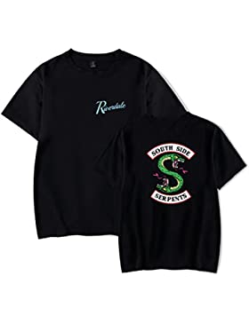 SERAPHY 2018 Camiseta Unisex de Nueva Llegada Riverdale South Side Serpents t Shirt de Verano para Hombre/Mujer