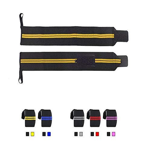 2 Wärme Wraps (WXH 2 STÜCKE Fitness Armschienen Handgelenk Kompressionsriemen Sport Brace, Verteidigung Verstauchung Atmungsaktiv Verlängern Erweiterung Starke Verschleißfestigkeit, für Fitness, Gewichtheben,Blue)