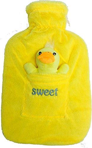 Wärmflasche mit Luxus Sweet Fleece Cover für Kinder und Erwachsene, 2L (2Katzenklo Größe). Ideal für Küche, Kinder, persönliche Gesundheit und Pflege, Camping und Reisen. Wasser Tasche von source-diy (gelb (Kostüme Business Monkey)