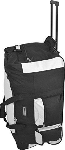 normani Jumbo Reisetasche/Big-Travel Koffer mit Rollen - V 4 5. Genration, XXL Farbe Schwarz/Weiß