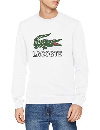 7 Sweatshirt (Lacoste Herren Sh6382 Sweatshirt, Weiß (Blanc 001), XX-Large (Herstellergröße: 7))