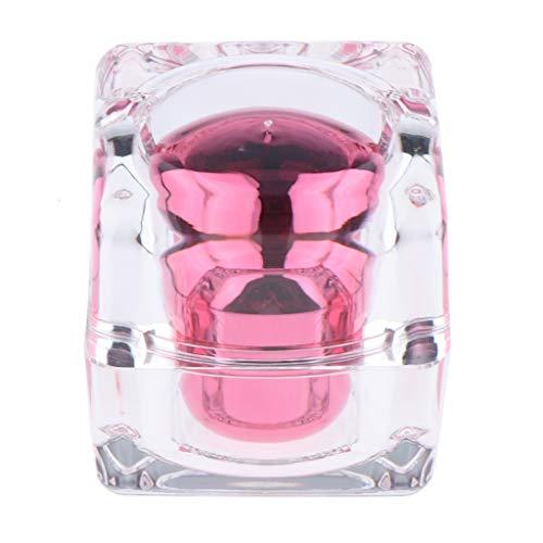 B Blesiya 30ml Leere Glas Tiegel Creme-Dose, Kosmetik-Dose mit Deckel, Nachfüllbar und Wiederverwendbar - Rosa