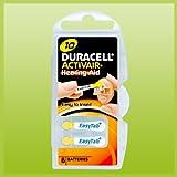 Duracell Easytab / Activair Tipo 10 Pilas de Botón para Aparato Auditivo Zinc-Aire P10 PR70 ZL4 - 30x Pilas