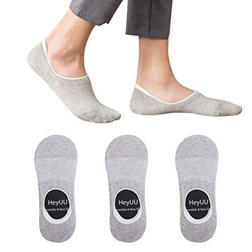 HeyUU 3 | 6 | 10 Paar Herren & Damen Baumwolle Füßlinge Unsichtbare Sneaker Socken Mit 8 Rutschfeste Silikonstreifen Nicht Fallen Socken