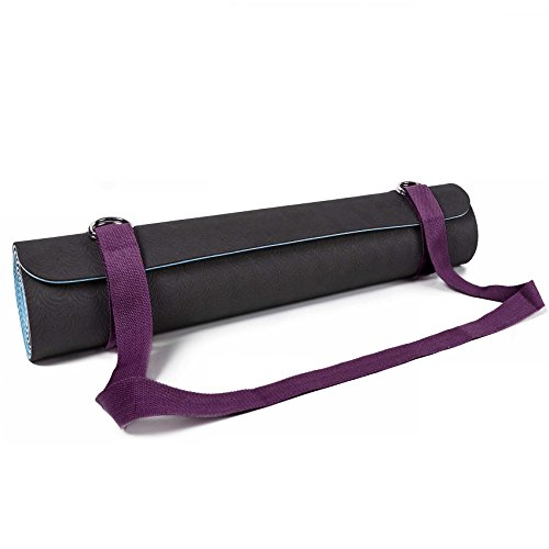 #DoYourYoga SANGLE DE TRANSPORT POUR TAPIS »Yuki« / Carrying belt for all Yoga-, Pilates and EXTRA THICK Fitness mats, useful and easy to handle, purple