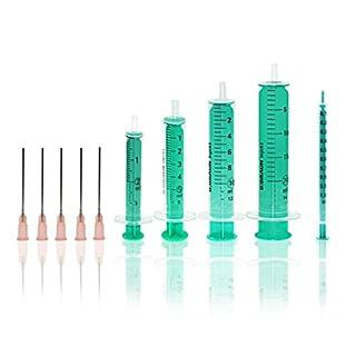 Horn Spritzen-Set für Hobby Heimwerken mit 5 stumpfen Nadeln und 5 Spritzen