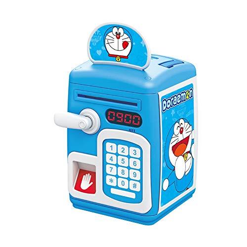 Duan hai rong DHR Fingerabdruck Sparschweinmünze Automatisches Geburtstagsgeschenk Sende Jungen und Mädchen Praktisches Geschenk Sende Kinderspielzeug Passwort Mit Musik Sparschwein (Color : Blue)