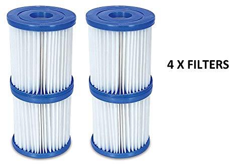 4-er Pack Filterkartuschen Typ I 8,0 cm x 9,0 cm