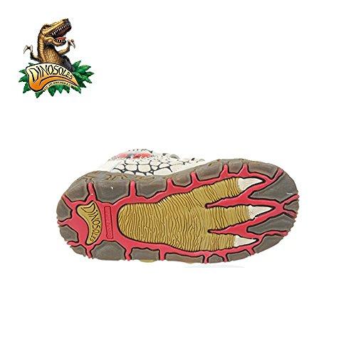 Dinosoles 3D T-Rex Dinosaurus Hi-Top Shoe(Children/Toddler/ Little kid) Beige