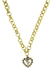 Sweet Deluxe Damen-Halskette Messing Wiesn Vintage Herz gold 2598