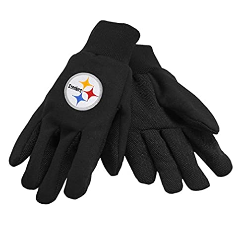 NFL Pittsburgh Steelers Solid Color Utility Gloves, Black