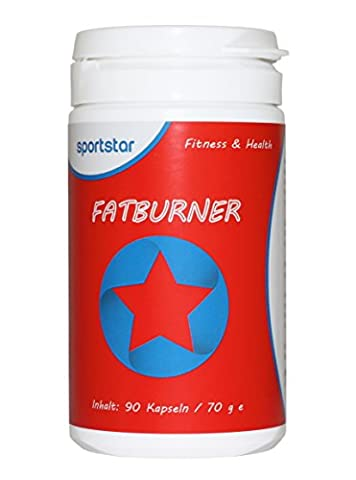 Hoch dosierter Fatburner von sportstar – Pro Abnehmen (90 Kapseln/1-Monatspackung) – Pro Diät, Pro Appetitzügler, Pro Gewichtsverlust – Spitzenqualität – Bonus: 14 Tage Sport- und Ernährungsplan gratis als