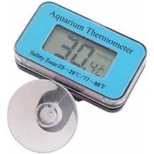 Enbexi acuario de buceo termómetro de acuario sin termómetro inalámbrico integrado termómetro electrónico ventilador azul