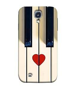 PrintVisa Designer Back Case Cover for Samsung Galaxy S4 Mini (piano keys close white view)