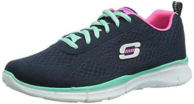 Skechers EqualizerTrue Form, Damen Sneakers, Blau (NVAQ), 35 EU