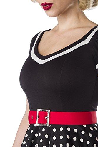 Belsira - Robe - Femme schwarz/weiß/rot