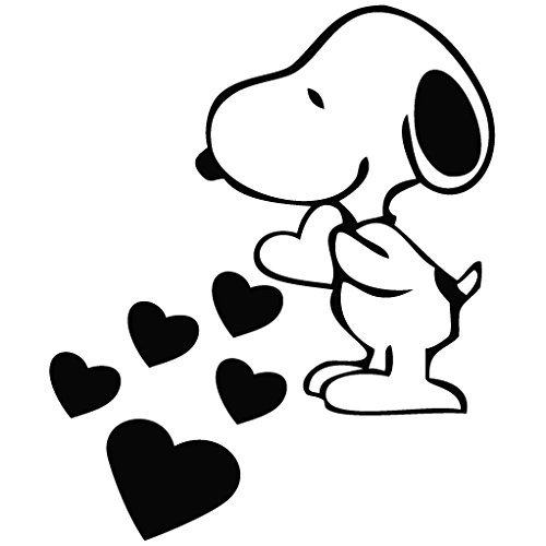 snoopy-love-hearts-cartoon-decal-vinyl-removable-decorative-sticker-for-wall-car-ipad-macbook-laptop