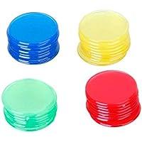 400 Stück Bingo Chips Zähler Plastik 4 Farben