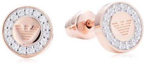 Emporio Armani Damen-Ohrstecker 925 Sterling Silber rosgold beschichtet EG3054221