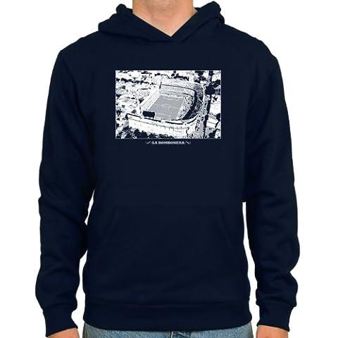 SpielRaum Hoodie La Bombonera ::: Farbe: navy ::: Größen: S-XXL ::: Fußball-Kult