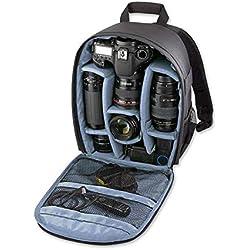 Lesgos Sac à Dos pour Appareil Photo, Sac étanche avec Rembourrage réglable pour appareils Photo Reflex numériques universels pour Hommes, Femmes