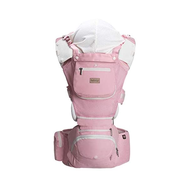 Front Carriers Strap Front Versatile Four Seasons Universal Waist Stool Holding Baby Artifact Cross Hug Baby Hug Infant Products Love lamp -front carriers 【Shoulder & Back-Friendly】Extra padded shoulder straps supportive waist belt evenly distributes the weight of the child adjustable straps create a comfortable fit for Moms and Dads of all body types ❤This product is a multi-purpose universal four-legged waist stool with a baby's sling in front and a baby sculpt. ❤This product is a neck-protection and anti-head tilting. It is really breathable and cool, and it is suitable for newborns. 1