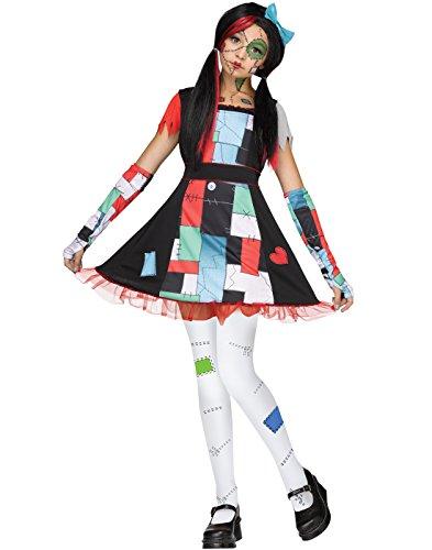 ally Girls Halloween Costume-M Medium 8-10 (Rag Doll Fancy Dress Halloween)