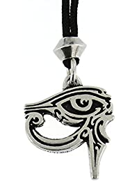 Ojo egipcio hecho a mano de Wadjet de la diosa del colgante del estaño de Horus Udjat del Ra ~ Para la protección