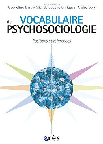 Utorrent No Descargar Vocabulaire de psychosociologie (HORS COLL-STE) Archivo PDF