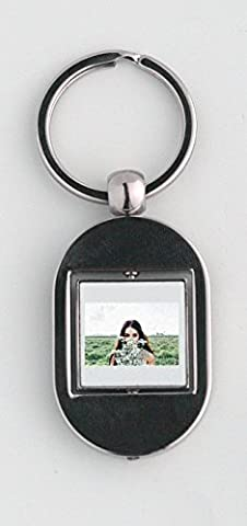 Key ring with Young Woman, Flowers Bouquet, Woman