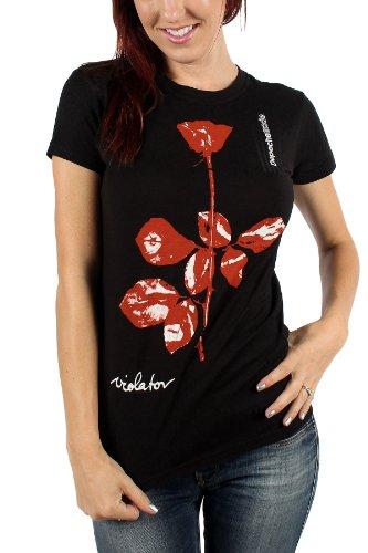 Depeche Mode T-shirt de Violator de femmes en noir, Black, Medium