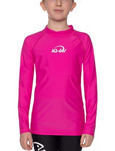 iQ-Company Kinder UV Kleidung 300 Langarm-Shirt, Pink, 128/134