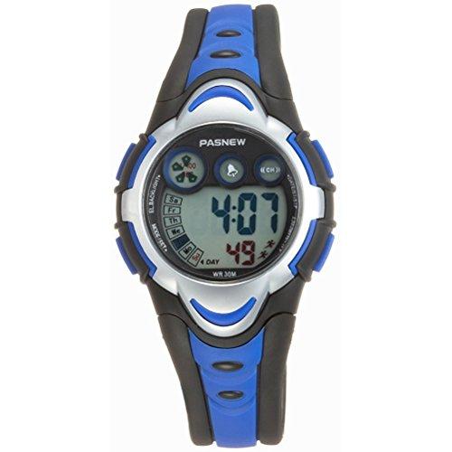 WINOMO PASNEW wasserdichte Kinder Studenten LED Digital Sport Uhr (blau)