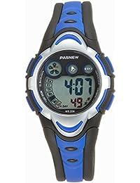 LEORX Pasnew PSE-276 bambini impermeabili orologio studenti ragazzi ragazze LED digitale Sport Watch (blu)