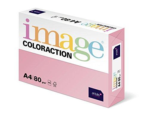 Galleria fotografica Kopa - Carta Coloraction Tropic in formato A4, risma da 500 fogli, 80 g/mq, rosa tenue