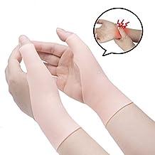 Sumiwish - Muñequera de silicona para alivio de túnel carpiano, guante de compresión de gel, ideal para artritis, tenosinovitis, muñeca y dolor de pulgar, 1 par