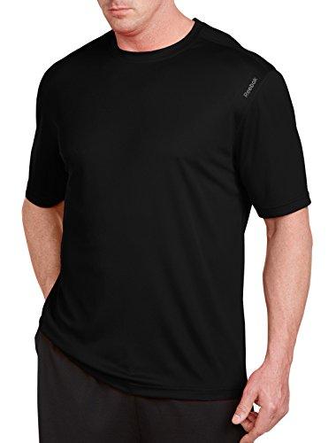 Reebok Bay Big & Tall Play Dry Tech T-Shirt (5XL, Black) (Reebok Play Dry)