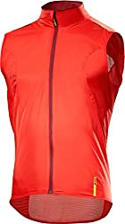 Mavic Aksium Cycling Windbreaker Gilet Red 2017, S (4446)