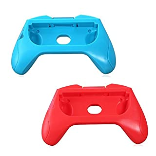 Amazingdeal365 1 Set ABS Hand Grip Stand Support Holder Left + Right for Nintendo Joy-Con Controller