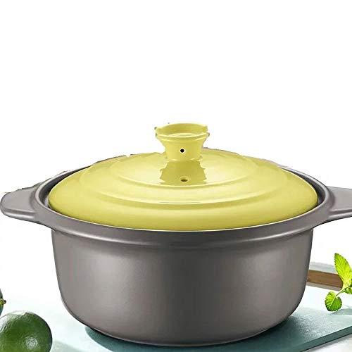 Auflauf Kocher Hause Keramiktopf Suppentopf Auflauf Reis Auflauf Suppentopf Steintopf Eintopf Suppe Feuer Gas (Color : Green) (Ersatz Remote Feuer)